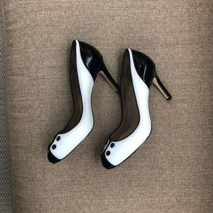 Ann Taylor black and white heels
